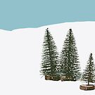 Fir Trees In The Snow by Wolf Kettler