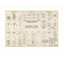 Cocktail Construction Chart by United States Forest Service Art Print