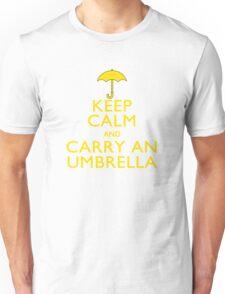 Keep Calm And Carry An Umbrella Unisex T-Shirt