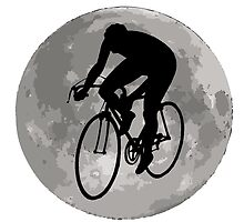 Cyclist Moon by kwg2200