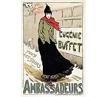 Vintage French female singer Eugenie Buffet winter advert  Photographic Print