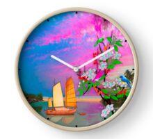 068 Wall Clock Japanese fishing boat Clock