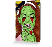 Zombie del rey Greeting Card