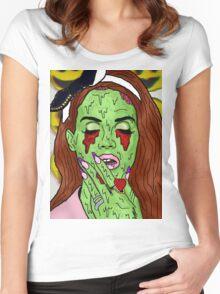 Zombie del rey Women's Fitted Scoop T-Shirt