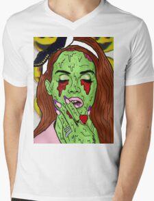 Zombie del rey Mens V-Neck T-Shirt