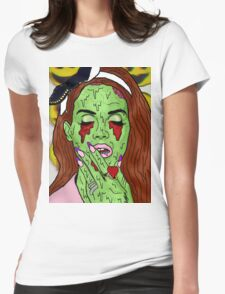 Zombie del rey Womens Fitted T-Shirt
