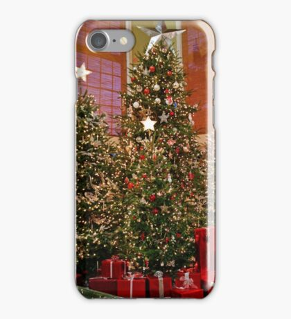 Three Christmas Trees iPhone Case/Skin