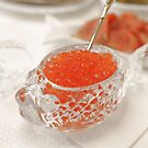 red caviar in a crystal bowl by mrivserg