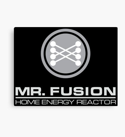 Back to the Future Mr. Fusion logo Canvas Print