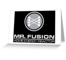 Back to the Future Mr. Fusion logo Greeting Card