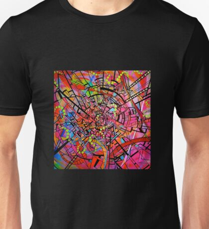 rose colored spiral Unisex T-Shirt