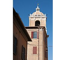The bell tower of the town hall in Senigallia Photographic Print