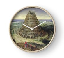 Lucas van Valckenborch - The Tower Of Babel. building landscape: city view, spiral, tower, tower of babel,  babel,  mythology, architecture, construction, gardens, panorama garden, buildings Clock