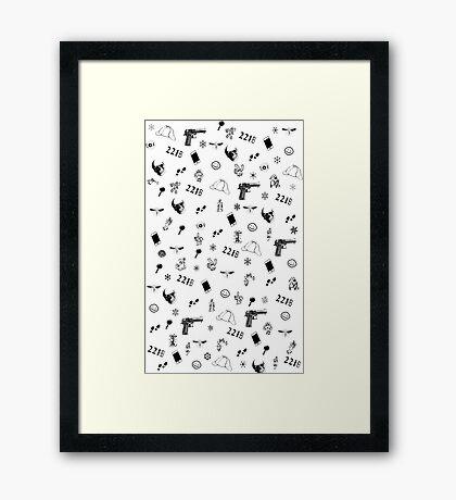Sherlock Christmas pattern Framed Print
