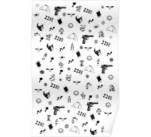 Sherlock Christmas pattern Poster