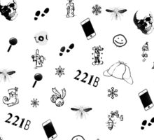 Sherlock Christmas pattern Sticker