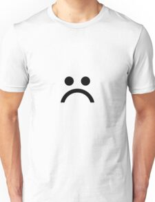 ☹ Black Unisex T-Shirt