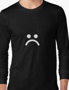 ☹ White Long Sleeve T-Shirt