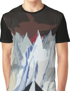Radiohead Kid A Mountains Stylized Graphic T-Shirt