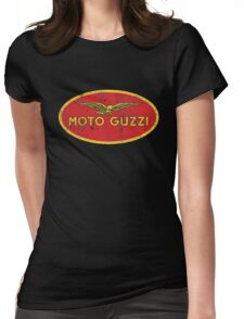 Moto Guzzi Grunge Womens Fitted T-Shirt