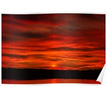 Dusk Burning Sunrise Poster