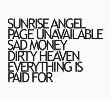 Sunrise Angel Lyrics Black by failedabortion