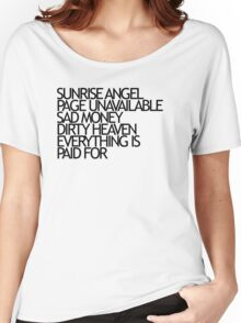 Sunrise Angel Lyrics Black Women's Relaxed Fit T-Shirt