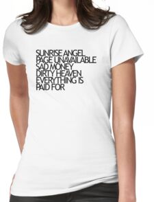 Sunrise Angel Lyrics Black Womens Fitted T-Shirt