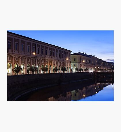 The river flowing through the city of Senigallia, Italy Photographic Print