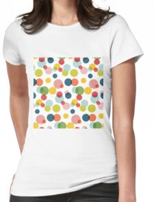 Confetti pattern Womens Fitted T-Shirt