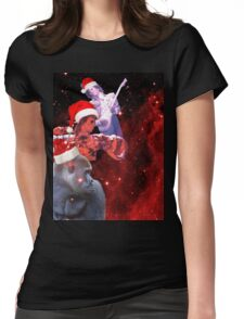 Goodnight (And Merry Christmas) Womens Fitted T-Shirt
