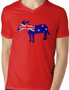 Australian Flag - Donkey Mens V-Neck T-Shirt