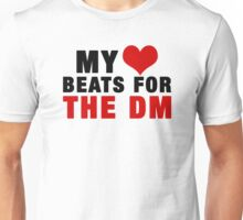 MY HEART BEATS FOR THE DM (Black) Unisex T-Shirt