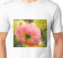 Peach Dahlia from the back Unisex T-Shirt
