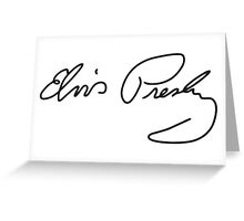 Elvis's autograph Greeting Card