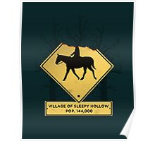 Headless Horseman Sign Poster
