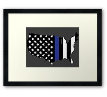 Thin Blue Line - America Framed Print