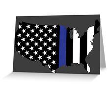 Thin Blue Line - America Greeting Card