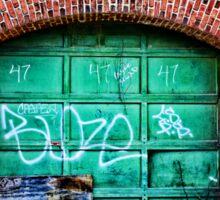 Green Garage Door Sticker
