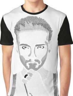 Bill Kaulitz; Tokio Hotel Lyrics Graphic T-Shirt