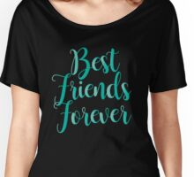 Best Friends Forever : Blue on Black Design Print Women's Relaxed Fit T-Shirt