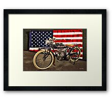 1914 Indian 'Big Twin' Motorcycle Framed Print
