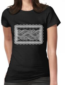 Lace Collage Womens Fitted T-Shirt