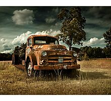 Abandoned 1950's Dodge Truck Photographic Print