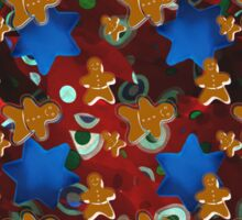 Gingerbread Men and Cinnamon Stars Sticker