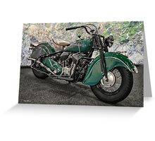 1947 Indian 'Chief' Motorcycle Greeting Card