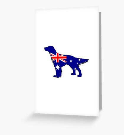 Australian Flag - English Setter Greeting Card