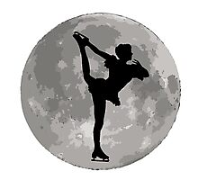 Figure Skate Moon Photographic Print