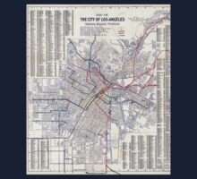 Los Angeles - Map of the railway systems - 1906 Kids Tee