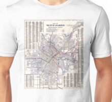 Los Angeles - Map of the railway systems - 1906 Unisex T-Shirt